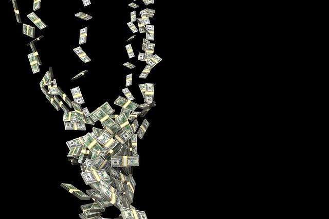 padající bankovky